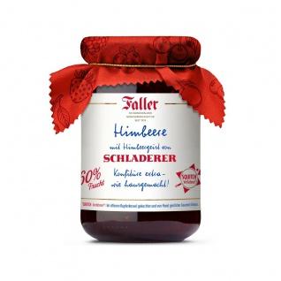 Marmelade aus dem Schwarzwald Faller Himbeer-Konfitüre extra mit SCHLADERER Himbeergeist wie hausgemacht! mit 60% Frucht 330 Gramm