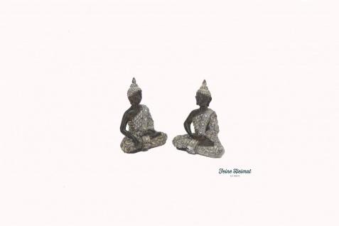 "Zwei Buddha Figuren sitzend in Meditation "" Mystic Buddha"" 2 Stck 17 cm"