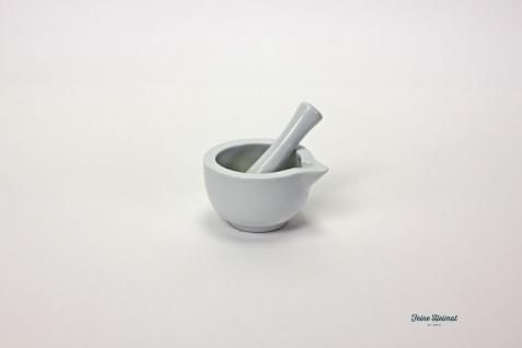 FeineHeimat Mörser aus Porzellan weiß mit Stößel 250 ml