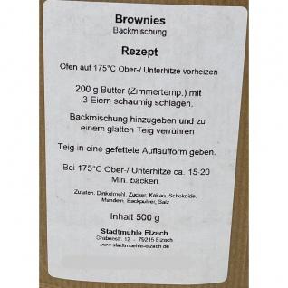 Stadtmühle Elzach Fertig-Backmischung Schwarzwälder Dinkel-Brownies 500 Gramm - Vorschau 3