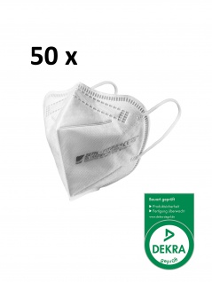 ZETTL FUTURUS-O 50 x FFP2 Maske Zertifiziert nach EN 149:2001+A1:2009 Durch DEKRA CE 0158 Ohrband