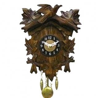 FeineHeimat original Schwarzwald Kuckucksuhr aus Holz 14 x 10 cm Made in Germany