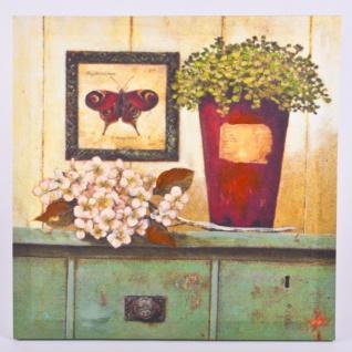 """Wandbild """" Pfauenauge und Blüten"""" Deko"""