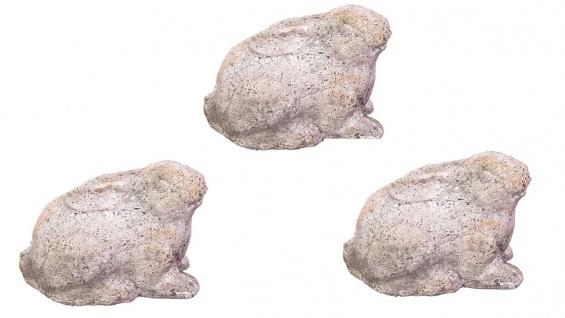 Gartendeko Hase aus Zement 3er Set