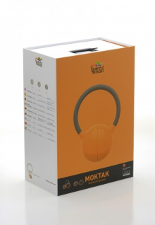 MOKTAK Stereo Design Lautsprecher orange Bluetooth NFC