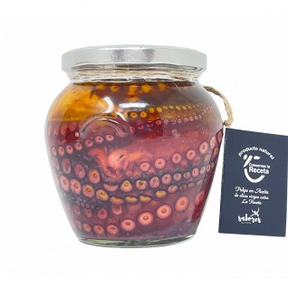 Conservas La Receta Großer Oktopus in Nativem Olivenöl Extra aus Spanien