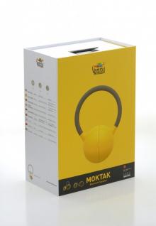 MOKTAK Stereo Design Lautsprecher gelb Bluetooth NFC