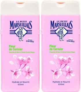 Le Petit Marseillais Duschgel und Badezusatz mit Kirschblüten 2 x 650ml