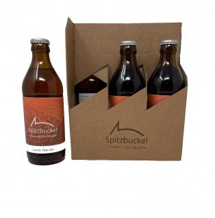 Spitzbuckel Brauwerkstatt Bäuerle Laufer Märzen Bier mit Gebirgsquellwasser gebraut 6 x 0, 33 Liter