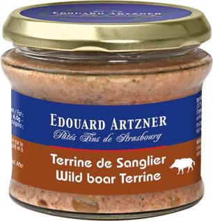 Edouard Artzner Wildschweinterrine mit Kastanien 180 Gramm im Glas