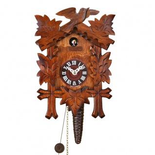 FeineHeimat original Schwarzwald Kuckucksuhr aus Holz 25 x 17 cm Made in Germany