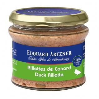 Edouard Artzner Enten Rillette Entenfleisch 170 Gramm Glas