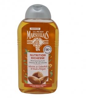 Le Petit Marseillais Shampoo mit Calendula- und Arganöl, Haar Kopfhaut trocken