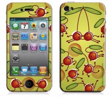 """BODINO Designer Super Skin für iPhone 4 / 4S by Valentine Edelmann """" CHERRY HOP!"""""""