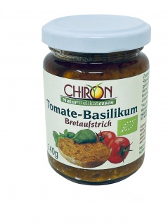 CHIRON Naturdelikatessen Bio Tomate-Basilikum Brotaufstrich kbA 140 g