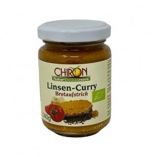 CHIRON Naturdelikatessen Bio Linsen-Curry Brotaufstrich kbA 140 g