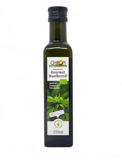 CHIRON Naturdelikatessen BIO-Hanfkernöl - Finest Gold kbA 250 ml kaltgepresst Vegan
