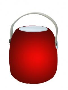 Luminatos VIGO-BT2, LED Leuchtlampe Wireless Bluetooth Lautsprecher Wechsellicht Lichteffekte