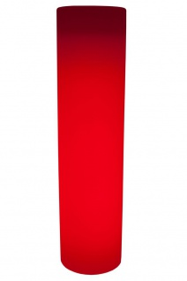 Luminatos PILLAR 190, LED Säule Blumentopf 190 cm mit Fernbedienung beleuchtet 16 Farben