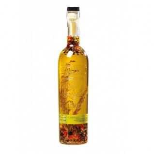 A L'Olivier Piment d'Espelette scharfes Olivenöl mit Chili und Gewürzen gravierte Flasche 500 ml