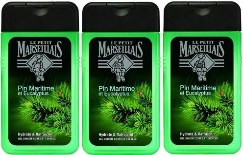 Le Petit Marseillais Duschgel mit Pinien und Eucalyptus 3 x250 ml aus Frankreich