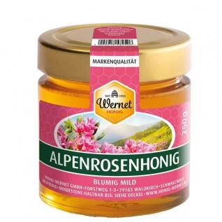 Honig Wernet Traditionsimker im Schwarzwald flüssiger Alpenrosenhonig im 250g Glas