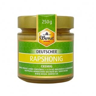 Honig Wernet Traditionsimker im Schwarzwald Deutscher Rapshonig cremig im 250g Glas