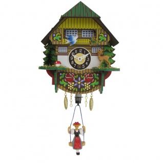 FeineHeimat Wipp Aufzieh Uhr Schwarzwald Haus 13 x 16 cm Made in Germany