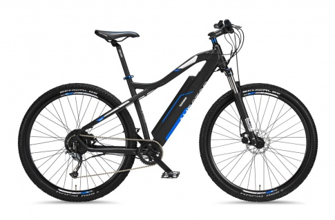 Telefunken MTB E-Bike M920 27, 5 Zoll Lange Reichweite 250 Watt Anthrazit Blau