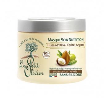 Le Petit Olivier Haarkur für trockenes und geschädigtes Haar mit Olive, Shea und Argan 330 ml
