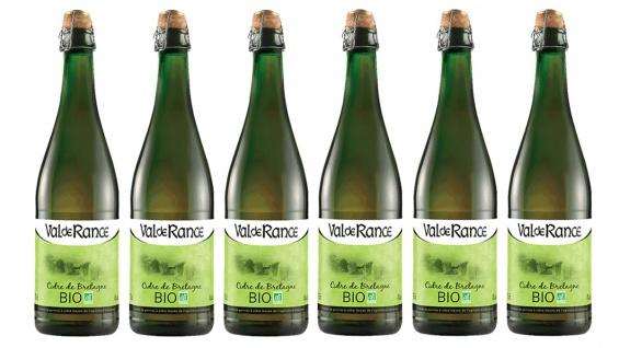 Val de Rance Cidre de Bretagne Biologique Apfelwein aus Frankreich 6 x 0, 75 Liter