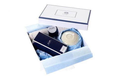 KLAR Seifen 10000708 Geschenkbox für Herren Herrenklassiker im praktischen Set