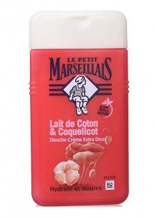 Le Petit Marseillais Duschgel mit Baumwollmilch und Mohn 250 ml aus Frankreich