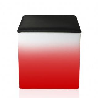 Luminatos C40-SK, LED Cube / Hocker 40 cm leuchtet Farbwechsel Fernbedienung Sitzwürfel Sitzkissen