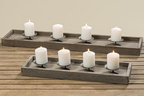 Kerzenleuchterschale Aura für 4 Kerzen Material Holz
