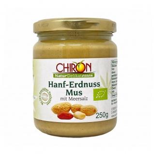 CHIRON Naturdelikatessen Bio Hanf-Erdnuss Mus salzig kbA 250 g Mit Meersalz