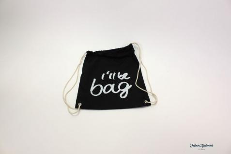 "FeineHeimat Clubsack "" I'll be bag "" Sportbeutel, Rucksack, Backpack, Canvas"