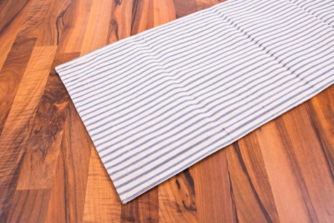 Tischläufer blau/braun/weiß 140 x 40 cm 100% Baumwolle Tischdecke - Vorschau 3