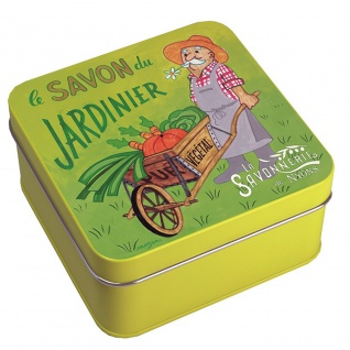 La Savonnerie De Nyons Seife in der Metalldose Gärtner Seife 100 Gramm