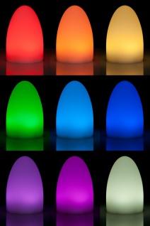 Luminatos EGG 15, LED Tisch-Leucht-Ei 15 cm inkl. Fernbedienung Tischleuchte - Vorschau 4