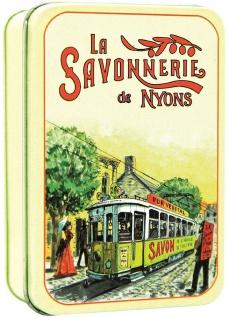 La Savonnerie De Nyons Seife in der Metalldose Le Tramway Baumwollblüte