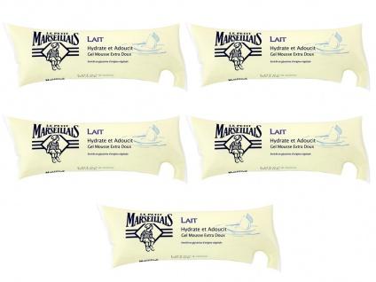 Le Petit Marseillais Flüssigseife mit Milch 5 x 250 ml Nachfüllpack aus Frankreich