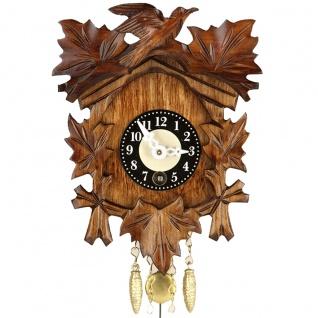 FeineHeimat original Schwarzwald Aufziehuhr Kuckucksuhr aus Holz Made in Germany
