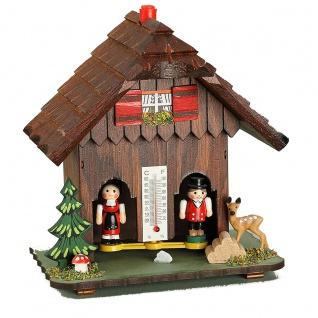 FeineHeimat original Schwarzwald Wetterstation aus Holz Made in Germany 14 cm