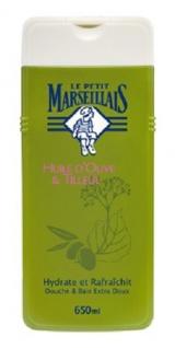 Le Petit Marseillais Duschgel und Badezusatz mit Olivenöl und Lindenblüten 650 ml aus Frankreich