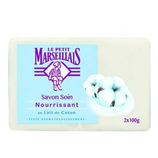 Le Petit Marseillais Seife Savon au Lait de Coton Baumwoll Milch 2x 100g