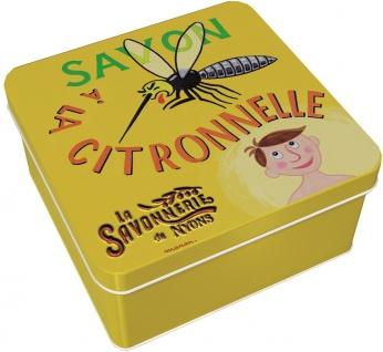 La Savonnerie De Nyons Seife in der Metalldose Zitronengras Seife 100 Gramm