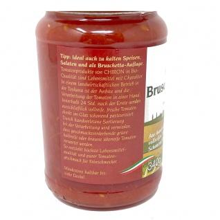 CHIRON Naturdelikatessen Bio Bruschetta Tomaten kbA 340 Gramm Glas - Vorschau 3