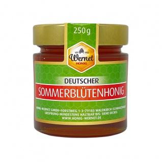 Honig Wernet Traditionsimker im Schwarzwald Deutscher Sommerblütenhonig im 250g Glas