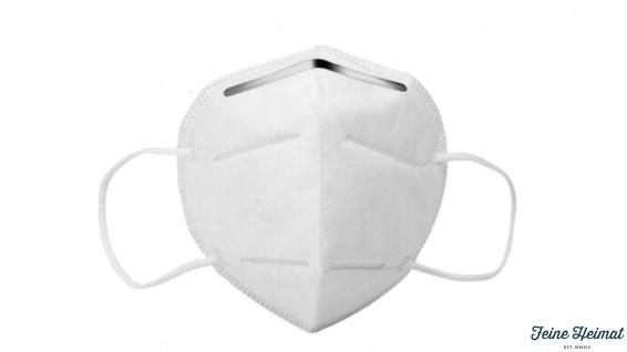 Mehrlagige Community-Einwegmaske aus Vliesstoffmit formbarem Nasenbügel.